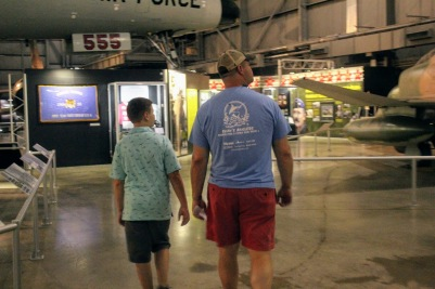 Dad and Matthew checking out the exhibits