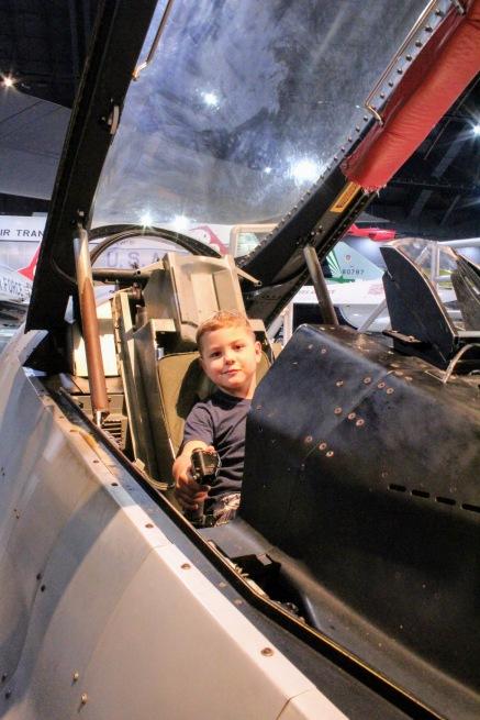Benji in the cockpit