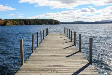 The pier at Wolfeboro