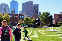 Enjoying a day in Boston!